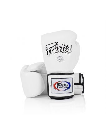 Super Sparring Gloves - Locked Thumb-10 oz.-White