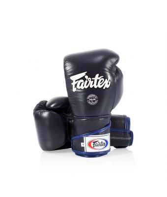 Stylish Angular Sparring Gloves - Locked Thumb-10 oz.-Blue