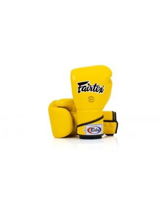 [50% off] 10 oz. Sparring Gloves-BGV6 Stylish Angular Sparring Gloves - Locked Thumb-Yellow