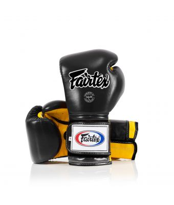 Heavy Hitter's Gloves - Mexican Style-Black/Yellow-10 oz.