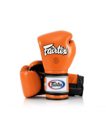 Heavy Hitter's Gloves - Mexican Style-Orange/Black-10 oz.