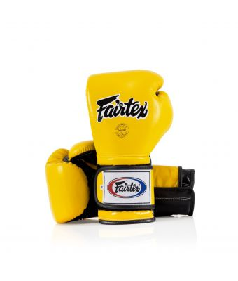 Heavy Hitter's Gloves - Mexican Style-Yellow/Black-10 oz.