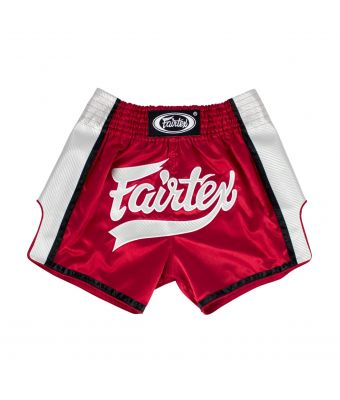 Muay Thai Shorts-BS1704-Red/White-S