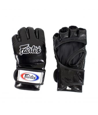 "Ultimate Combat Gloves with ""Open Thumb Loop""-M-Black"