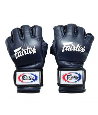 "Ultimate Combat Gloves with ""Open Thumb Loop""-Blue/Black-S"
