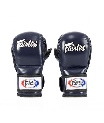Sparring Gloves – Double Wrist Wrap Closure-Blue-S