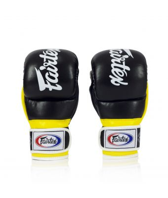 Super Sparring Grappling Gloves -Black/Yellow-S