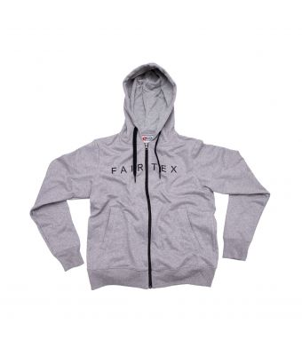 Fairtex Hooded Sweatshirts (Zipper)-Gray-S