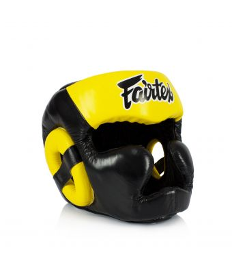 Diagonal View Headguard - Full head coverage-M-Black/Yellow