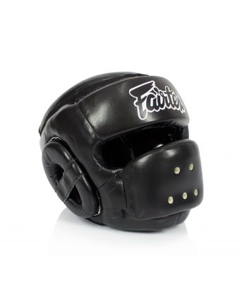 [50% off] Fairtex Headguards-HG14 Full Face Protector Headguard-Black-S
