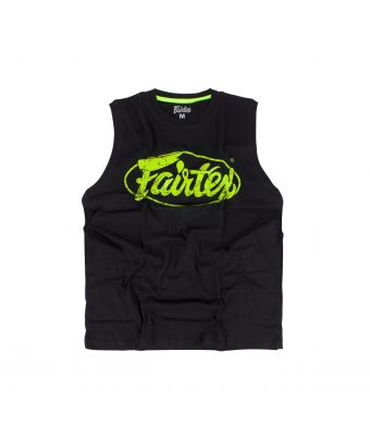 Fairtex Cotton Jersey - MTT27-Black/Light Green-XS