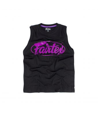 Fairtex Cotton Jersey - MTT27-Black/Purple-XS