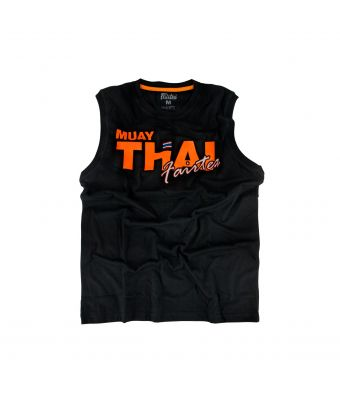 Fairtex Cotton Jersey - Muay Thai Neon-Black/Orange-XS
