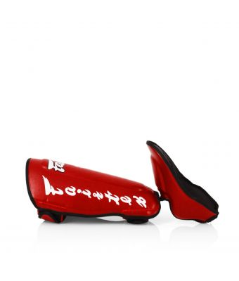 Twisted Shin Pads-M-RED