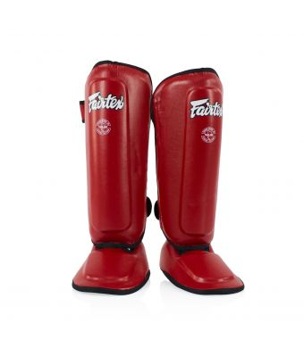 Shin Pads for Kids-Red-8-10Y