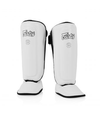 Shin Pads for Kids-White-8-10Y