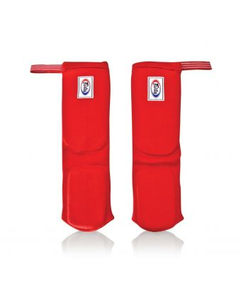 Elastic Shin Pads-Red