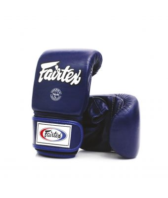 Super Sparring Bag Gloves - Open Thumb-Blue-M