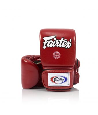 Super Sparring Bag Gloves - Open Thumb-Red-M