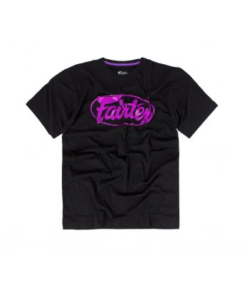 Fairtex T-Shirt - TST148-Black/Purple-S
