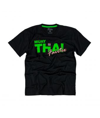 Fairtex T-Shirt - TST178-Black/Green-XS