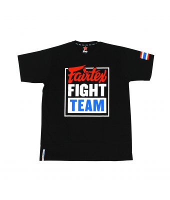 "Fairtex T-Shirt ""Fairtex Fight Team""-Black/Blue-S"