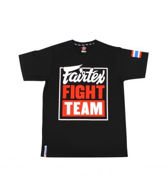 "Fairtex T-Shirt ""Fairtex Fight Team""-Black/Red-S"