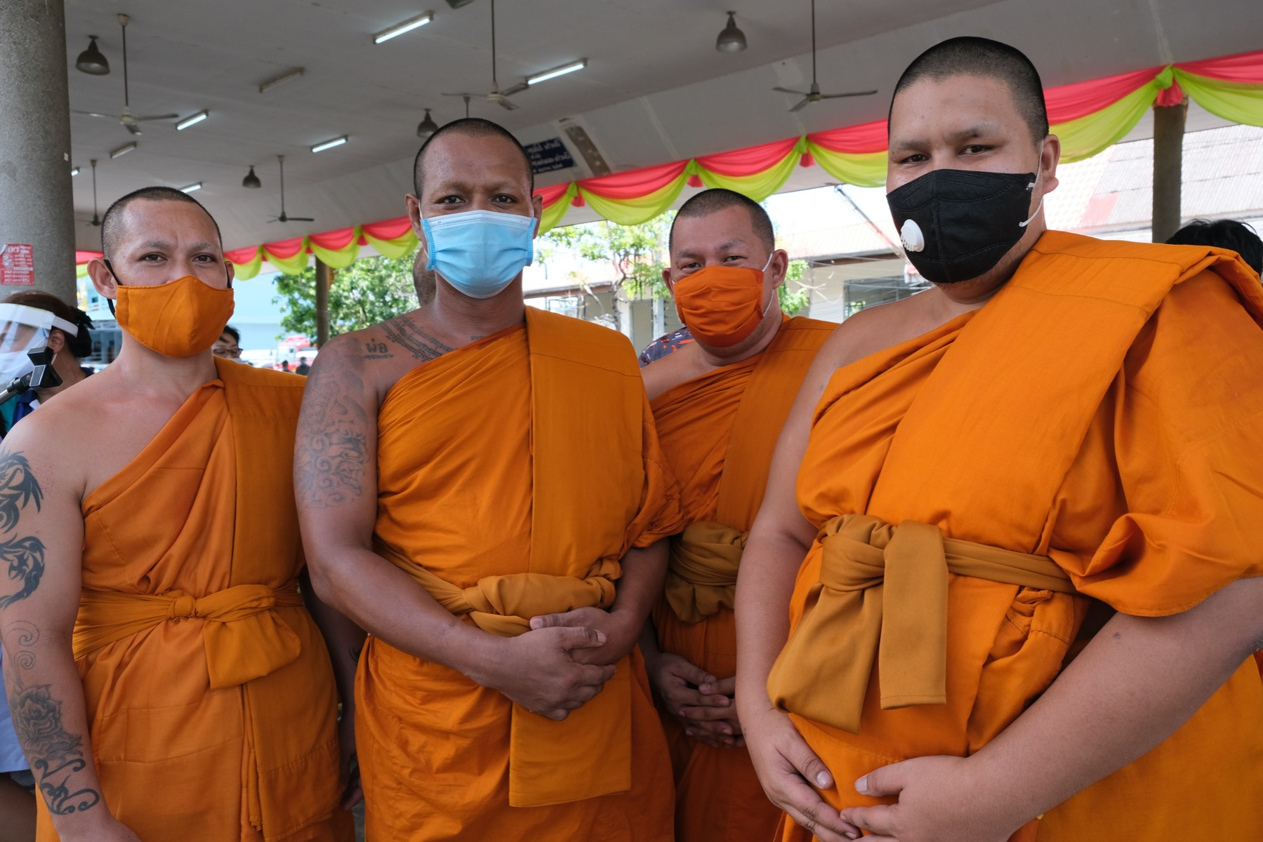 Monks are a part of Thai community
