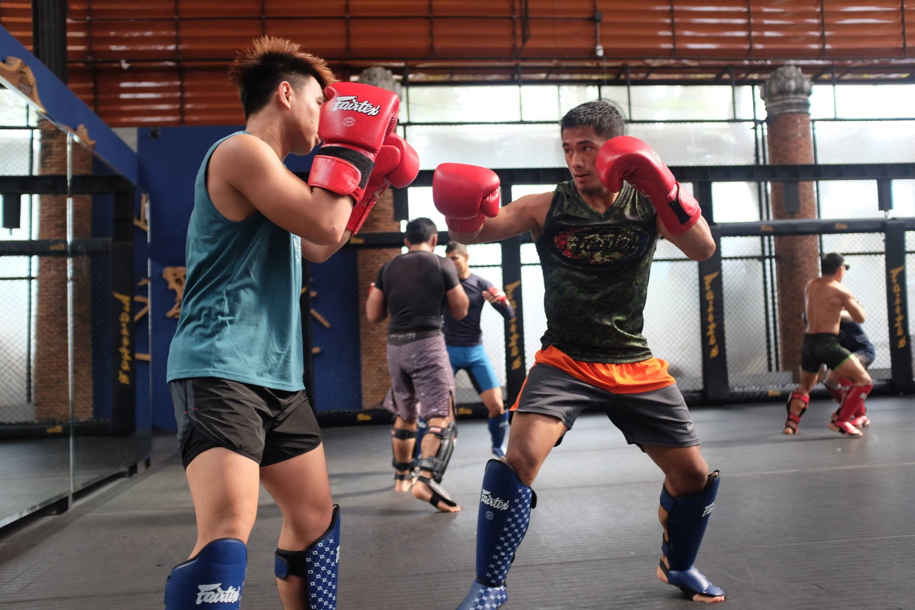 Joshua Pacio and Stephen Loman sparring