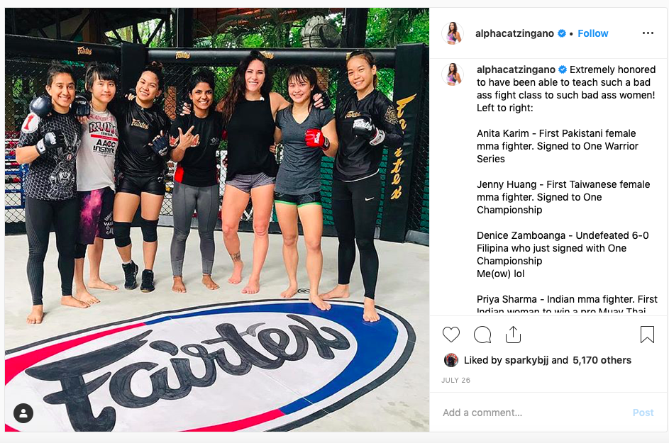Fairtex Fight Team with Cat Zingano