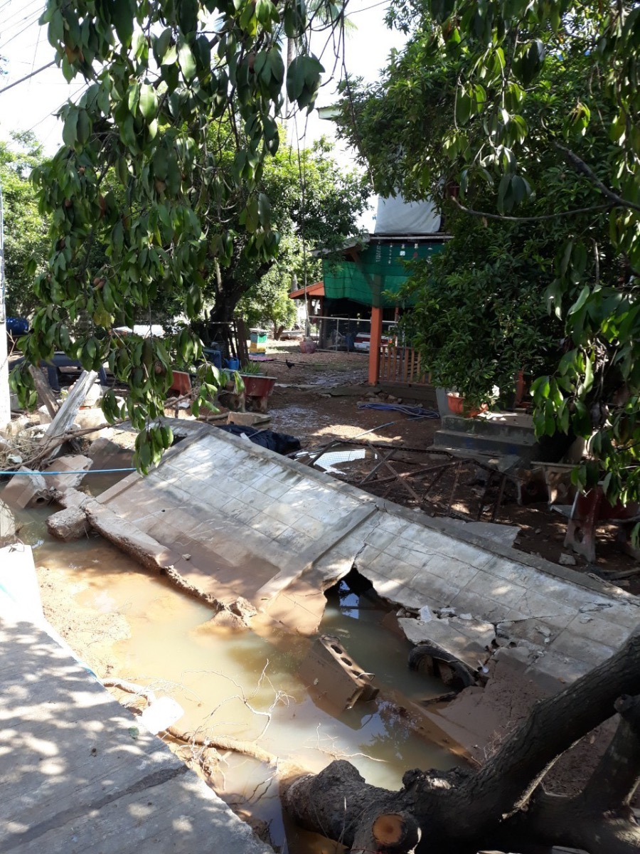 Damage From Flooding In Sukhothai