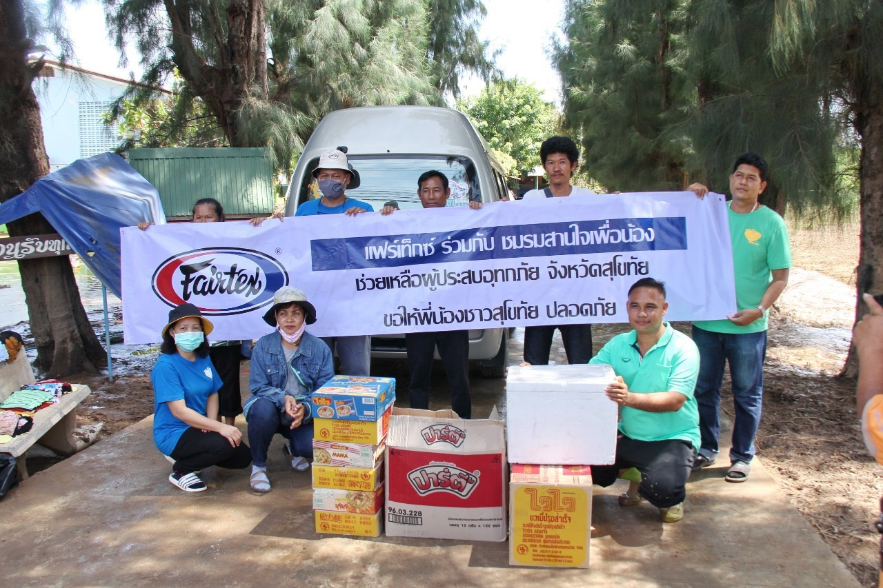 Fairtex Provides Food, Water, And Other Materials To Flood Survivors
